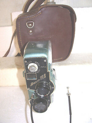 BAUER 88B 8mm green movie camera,  carry case, Ronar 1.9 12.5  lens, working