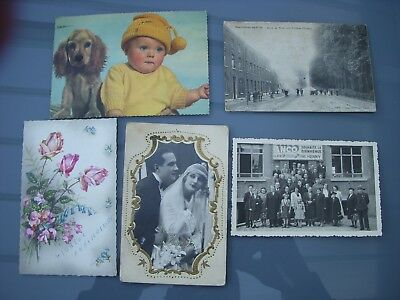 lot de 5 cartes postes anciennes dont Marchienne