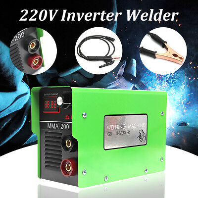 MMA 200AMP Handheld Electric Welding Machine Solder Inverter ARC PWM Welder