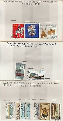 East Germany Stamps on Old Approval Cards Lot 3