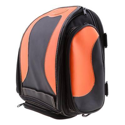 Motorcycle PU Leather Rear Seat Saddle Bag Luggage Bag for Sissy Bar -Orange