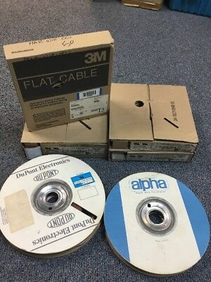 Bundle of 6 Miscellaneous Flat Cable Spools