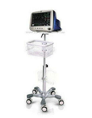 Rolling stand for GE Dash 4000 patient monitor , new (big wheel )