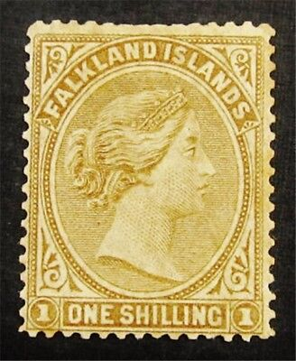 nystamps British Falkland Islands Stamp # 4 Mint OG H $80