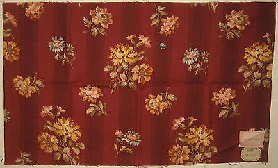 Antique Charming 19th C. French Floral Cotton Print Fabric (6307)