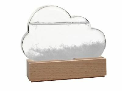 Storm Cloud Weather Predicting Glass Forcast Wood Base
