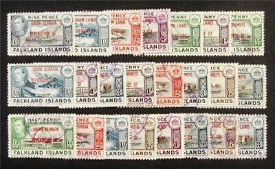 nystamps British Falkland Islands Stamp #2L1 - 2L8 3L1 - 3L8 4L1 // 4L8 Used $40