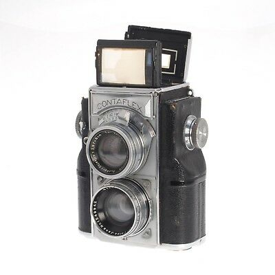 Vintage Carl Zeiss Ikon Contaflex TLR Twin Lens Reflex 35MM Film Camera AS-IS