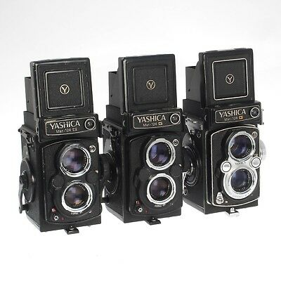Lot of Three (3) Yashica Mat 124 G Vintage  TLR Medium Format Film Camera AS-IS