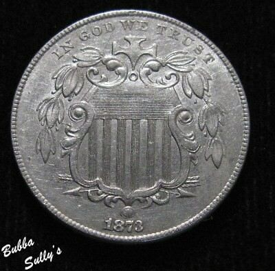 1873 Shield Nickel <> ABOUT UNCIRCULATED