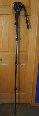 Manfrotto Carbon Fiber 694CX Monopod Plus 501HDV Fluid Video Head, NICE!!!