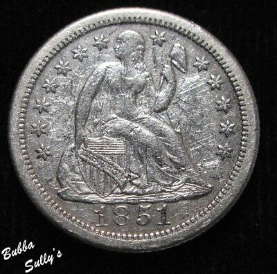 1851 O Seated Liberty Dime <> XF Details