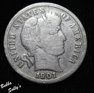 1901 S Barber Dime <> VERY GOOD