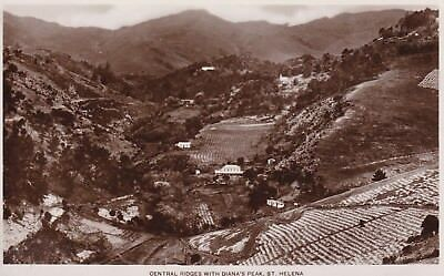 St Helena - Central Ridges With Diana's Peak - Real Photo Postcard