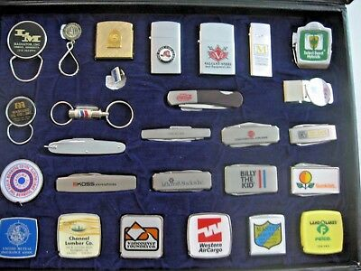 Nos Vintage 1982 Barlow Traveling Salesman's Sample Sales Kit Knife Lighter Tape