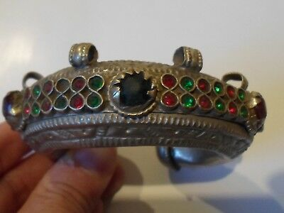 Absolutely Stunning,detector Find,unknown Period Ar Silver Bracelet W/stones