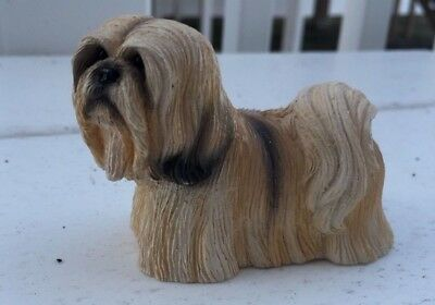 Lhasa Apso Puppy Dog Figurine Stone Critter 2001 Animal Collectible Figurine
