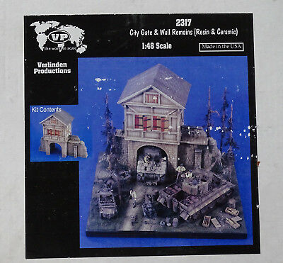 VERLINDEN #2317 City Gate & Wall Remains for Diorama in 1:48