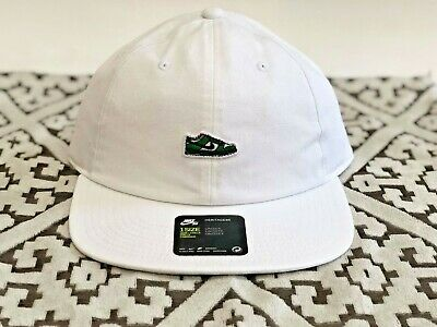 new concept 6adef 3788f Nwt One Size Nike Sb Dunk Heineken Heritage 86 Adjustable Cap White  905704-100
