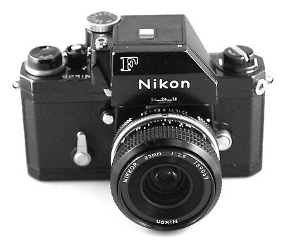 NIKON FTn BLACK BODY WITH LATE 35MM/F2.8 NIKKOR. VERY NICE USER. WORKS WELL.