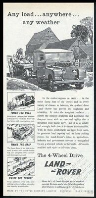 1957 Land Rover SUV illustrated British vintage print ad