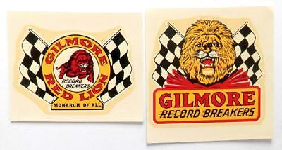 GILMORE OIL CO. Record Breakers Monarch of All - 2 windshield decals