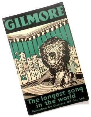 """1932 GILMORE OIL CO. """"Longest Song in the World"""" advertising brochure"""