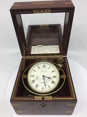 Waltham 8 Day Up & Down Ships Deck Clock Chronometer Nr