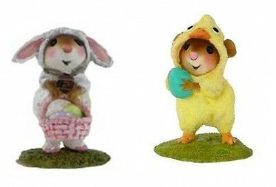 Wee Forest Folk M-433 Mommy's Little Lamb & M-457 Cute Chick - Set of 2