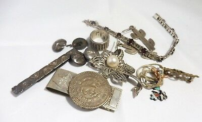 Mixed Lot Of Sterling Silver Jewelry And Oddities 75 Dwt