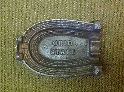 Industrial Engineering Foundry Cast Iron Stadium Football Ohio State Ashtray