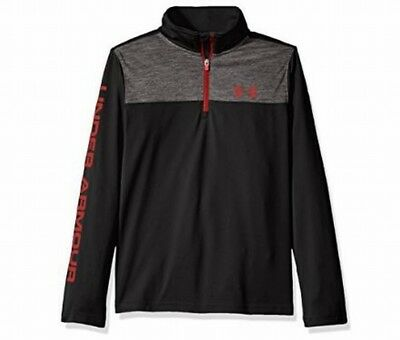Under Armour NEW Black Gray Boy Size Medium M Half Zip Pullover Sweater $34 #431