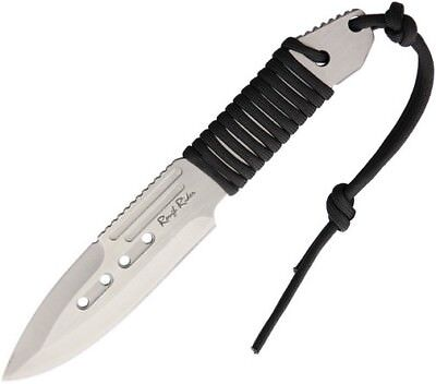 "Rough Rider RR1745 Satin Finish Fixed Knife 4.25"" Drop Point Blade"