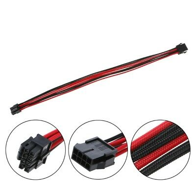 8Pin CPU ATX Power Supply Female to Male Power Extension Cable Black Red Sleeved