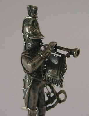 Superb Solid Cast Sterling Silver Soldier Bugler Figure London 1975 Military