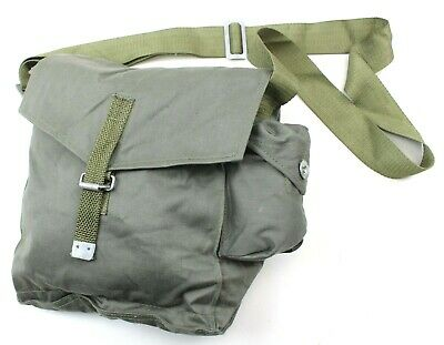 POLAND POLISH ARMY GAS MASK BAG / SHOULDER BAG in OLIVE GREEN