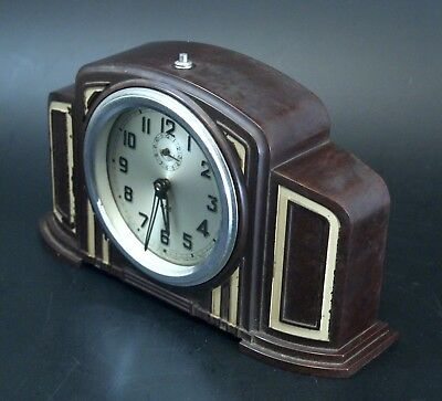 Reveil Jaz Bakelite Art Déco french alarm clock operate fonctionne