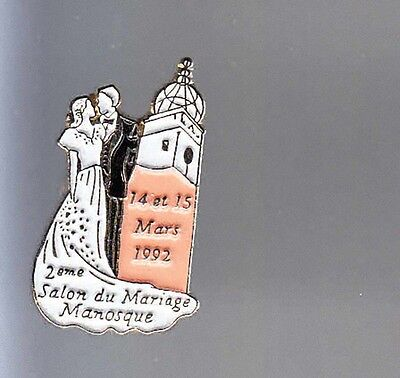 Rare Pins Pin's .. Mode Fashion Robe Mariage Wedding Sexy Salon Manosque ~Bk