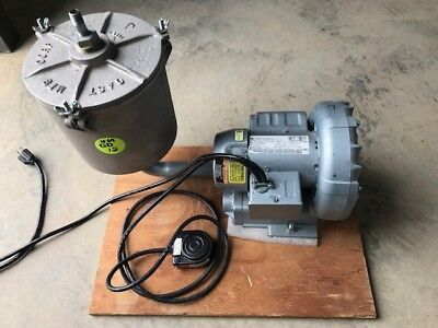 Gast Regenerrative Blower 1/8 Hp 1 Ph W Gast Av463 Filter Housing