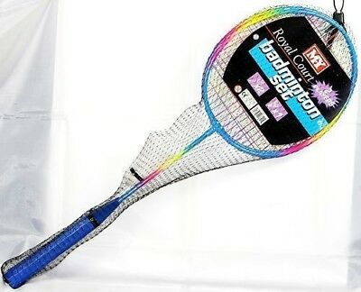 BADMINTON SET 2 x RACKET 1 x SHUTTLECOCK FAMILY GAME FUN FOR THE GARDEN TY9782