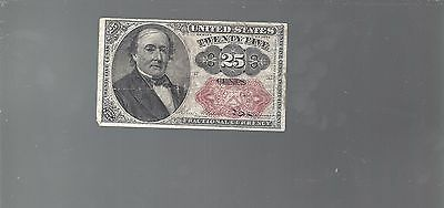 1874-1876 5th Issue 25¢ Fractional Currency,Walker Bust Nice!