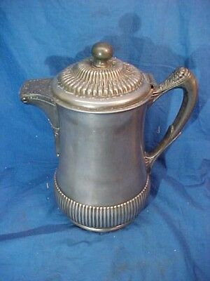 19thc VICTORIAN SILVERPLATE Porcelain Lined WATER PITCHER by WILCOX Silverplate
