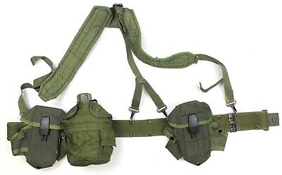 Genuine Us Army Lc2 Webbing Set Ammo Pouches Water Bottle Etc Alice System M16
