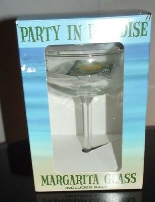 Margaritaville Party in Paradise Margarita Glass- BRAND NEW with Salt