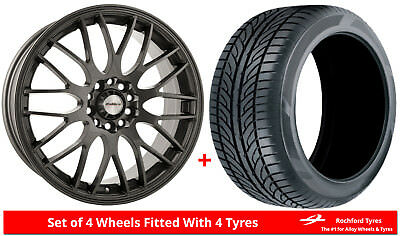 """Alloy Wheels & Tyres 17"""" Calibre Motion For MG ZR 01-05"""