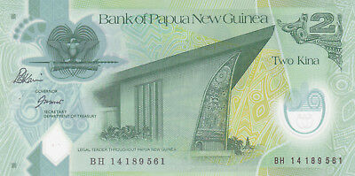 2 Kina  Aunc-Unc  Banknote From Papua New Guinea 2007!pick-28!