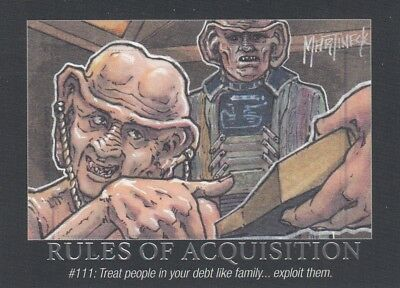 Star Trek Deep Space Nine Heroes & Villains - Rules Of Acquisition Ra28 Ds9