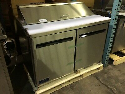 """Arctic Air Ast48R Commercial Sandwich Prep Table 48"""" 2 Door Refrigerated"""