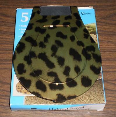 Floxite 5x Magnifying 360 Degree Lighted Home & Travel Mirror LEOPARD