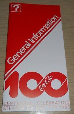Coca-Cola ~ 100th Year Pamphlet ~ Centennial Celebration General Information